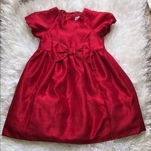 🌹 Gymboree red bow detail occasion dress🌹